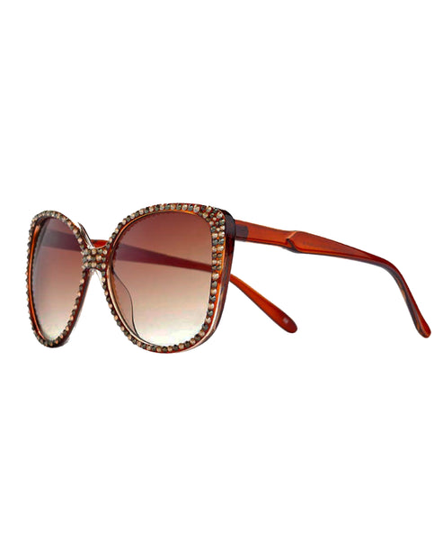 Zoom view for Oversized Sunglasses w/ Swarovski Crystals