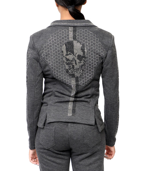 Zoom view for Crystal Skull Fleece Blazer A