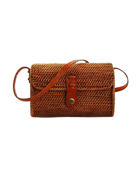 Zoom view for Small Rattan Crossbody Handbag
