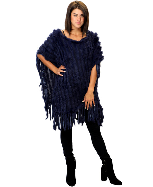 Zoom view for Rabbit Fur Poncho