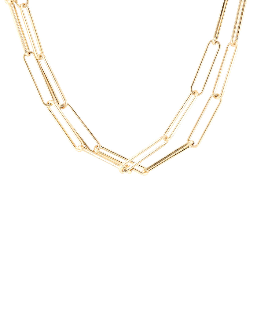 Elongated Link Collar Necklace