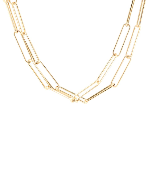 Zoom view for Elongated Link Collar Necklace