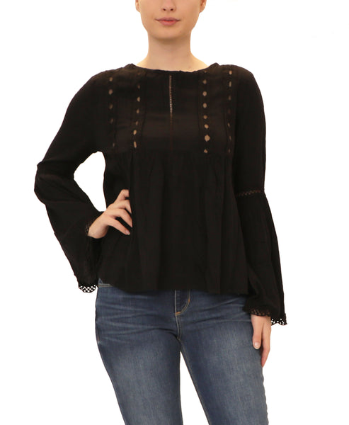 Babydoll Top w/ Lace Detail
