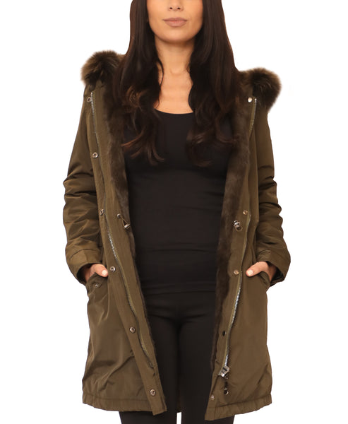 Hooded Parka w/ Fur Trim - Fox's