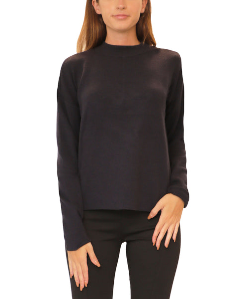 Lightweight Knit Split Back Sweater - Fox's