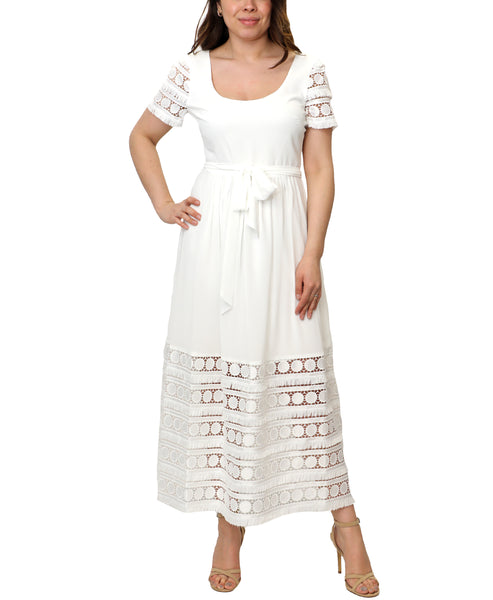 Zoom view for Lace Cutout Maxi Dress