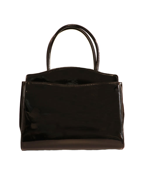 Patent Top Handle Handbag - Fox's