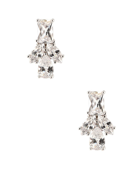 Zoom view for Cubic Zirconia Cluster Stud Earrings