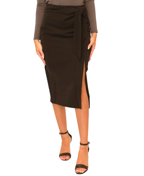 Pencil Skirt w/ Side Tie