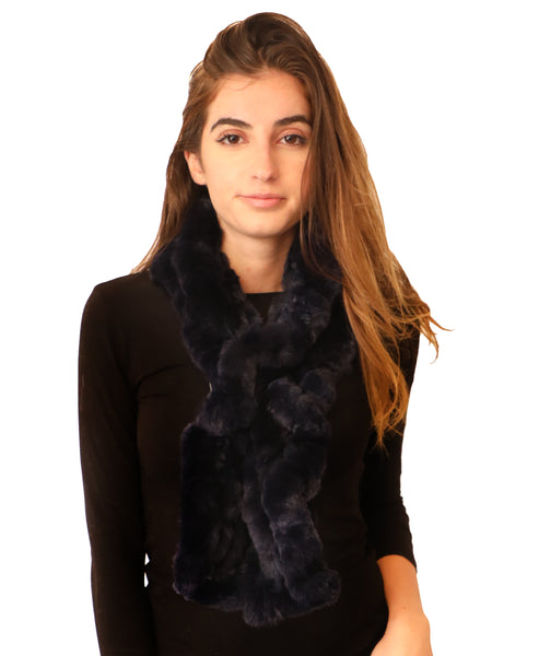 Rex Rabbit Fur Pull Thru Scarf - Fox's