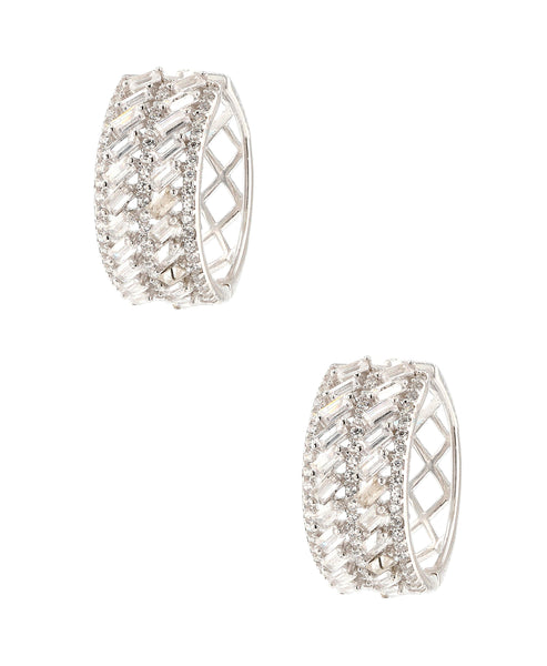 Zoom view for Cubic Zirconia Huggie Earrings