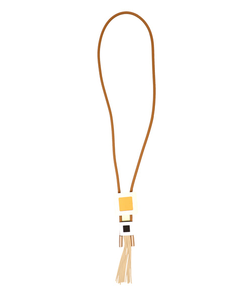 Lariat Necklace w/ Fringe
