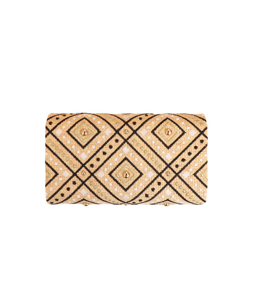 Straw Clutch w/ Embroidery