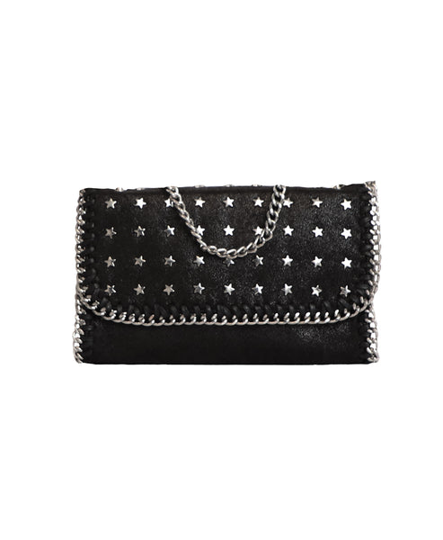 Zoom view for Star Encrusted Handbag w/ Chain Trim - Fox's