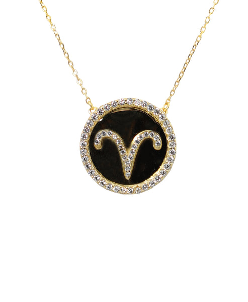 "Zoom view for ""Aries"" Zodiac Necklace"