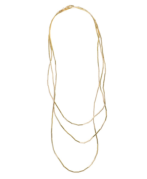 Zoom view for Gold Tube Wrap Necklace