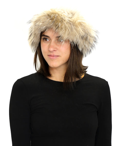 Zoom view for Raccoon Fur Headband
