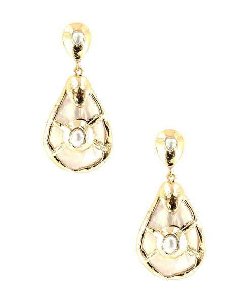 Zoom view for Teardrop Earrings w/ Mother of Pearl