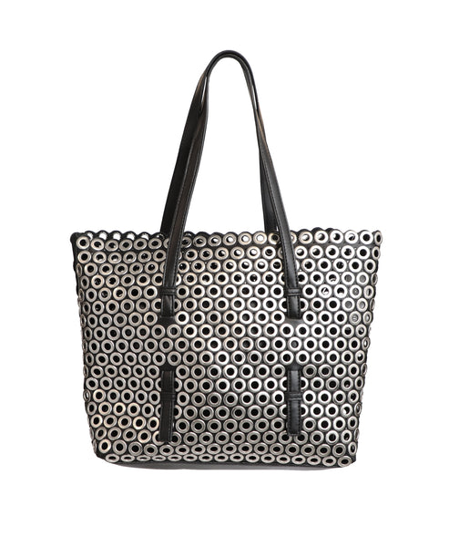Grommet Encrusted Tote Bag