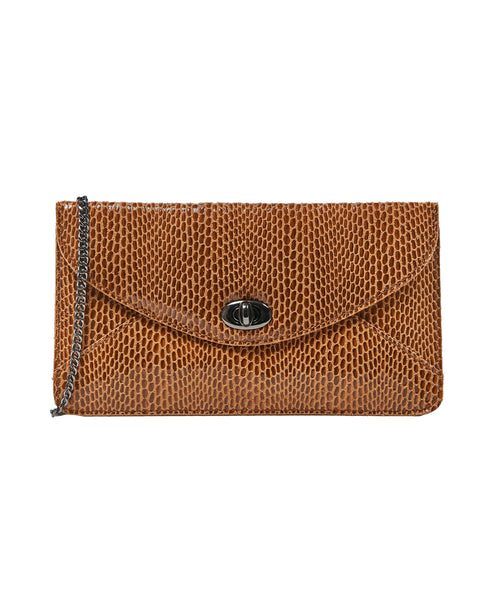 Leather Clutch Handbag - Fox's