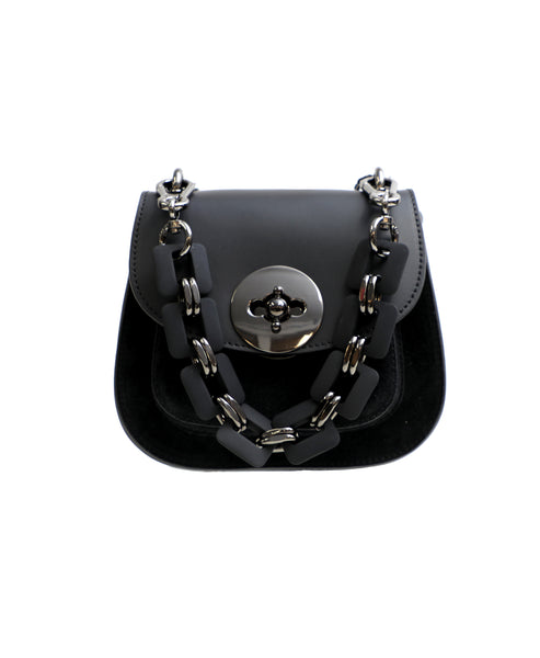 Zoom view for Leather Crossbody Bag w/ Linked Strap