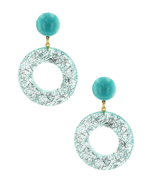 Zoom view for Circular Glitter Clip On Earrings - Fox's