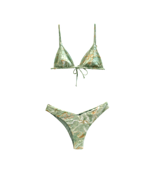 Zoom view for Marble Print 2 pc Bikini