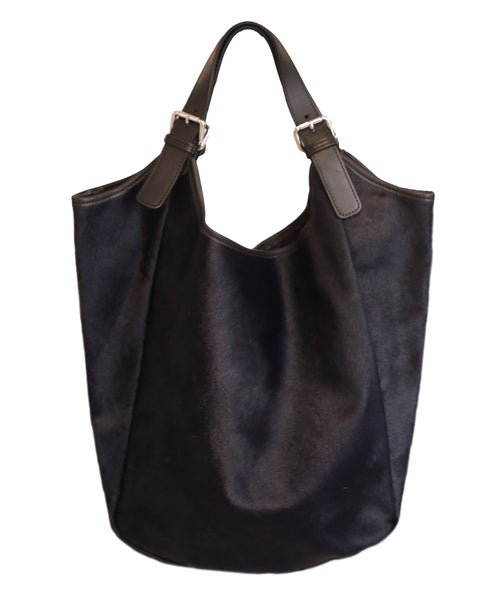 Calf Hair Large Shoulder Bag - Fox's