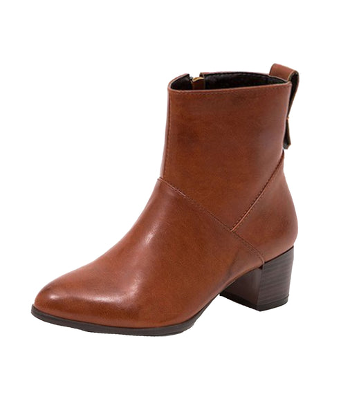 Bootie w/ Stacked Heel - Fox's