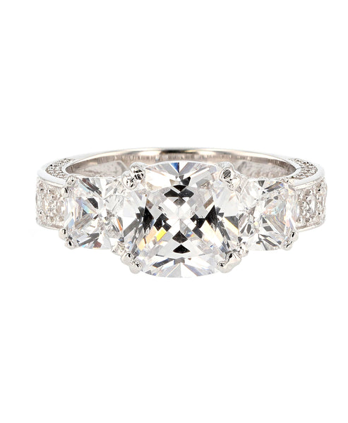 Zoom view for Cubic Zirconia Past Present Future Ring