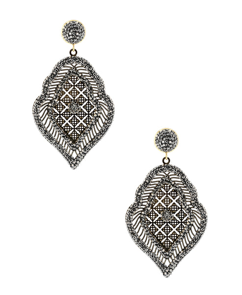 Zoom view for Drop Earrings w/ Intricate Detailing