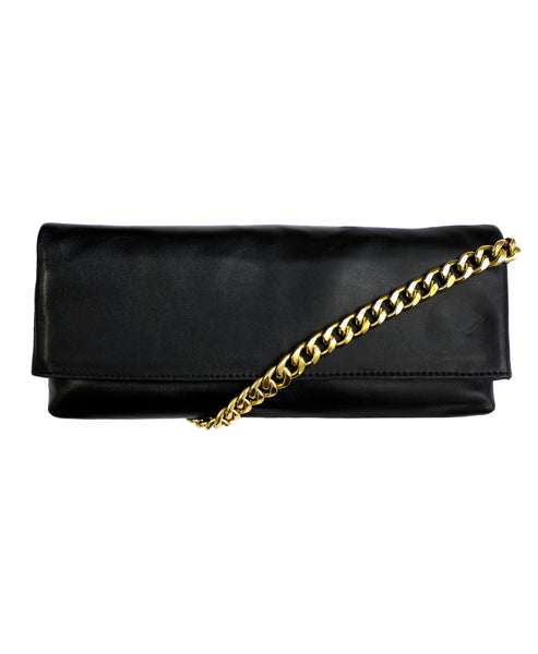 Zoom view for Leather Elongated Handbag