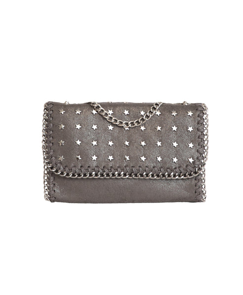 Star Encrusted Handbag w/ Chain Trim