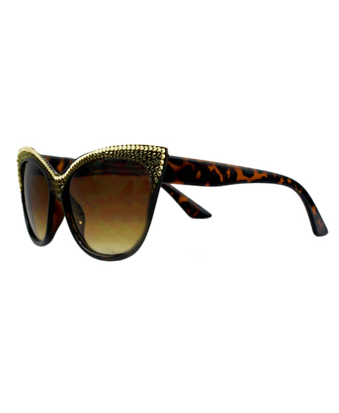 Cat Eye Sunglasses w/ Swarovski Crystals