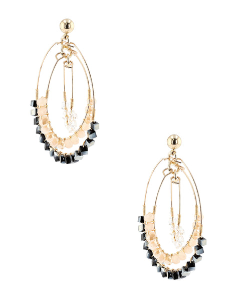 Zoom view for Beaded Cage Earrings