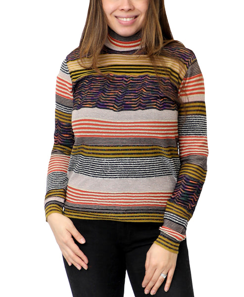 Zoom view for Stripe Shimmer Sweater