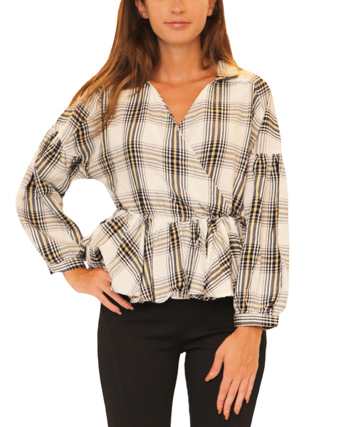 Plaid Wrap Shirt - Fox's