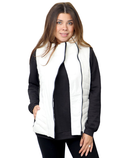Zoom view for Asymmetrical Puffer Vest