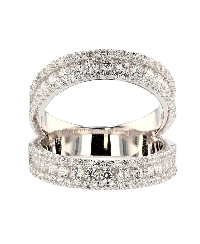 Cubic Zirconia Open Band Ring