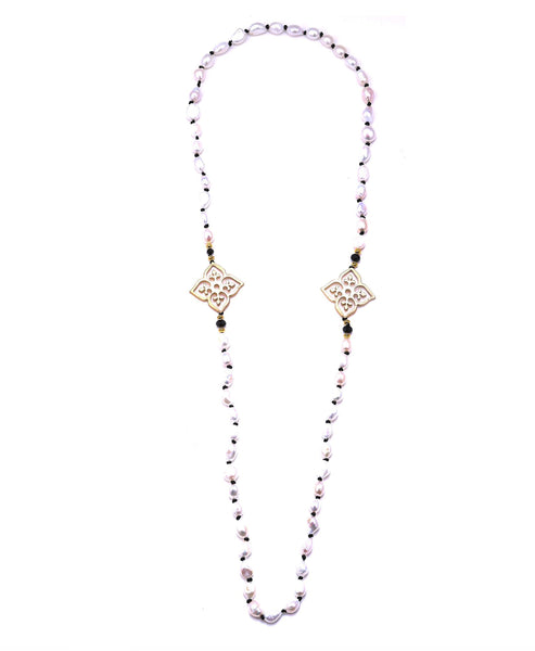 Freshwater Pearl & Crystal Necklace - Fox's