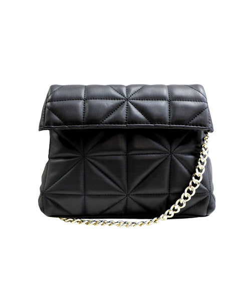 Zoom view for Leather Quilted Chain Shoulder Bag