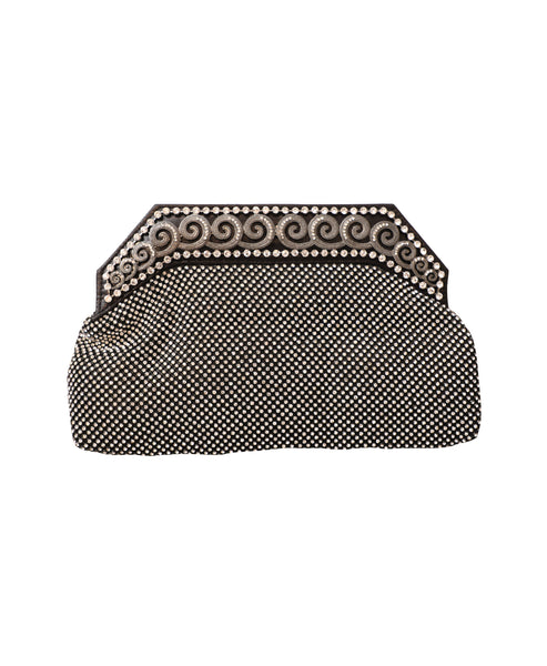 Crystal Mesh Evening Clutch Bag - Fox's