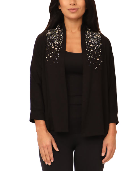 Cardigan w/ Crystals & Pearls - Fox's