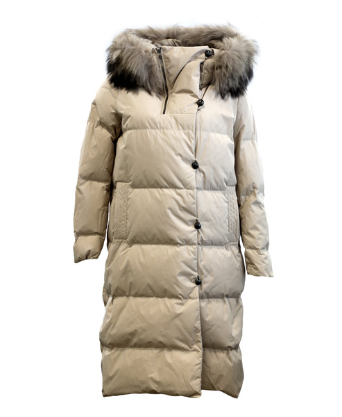 Zoom view for Down Puffer Coat w/ Raccoon Fur