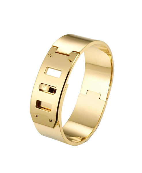 Zoom view for Wide Locking Cuff Bracelet A