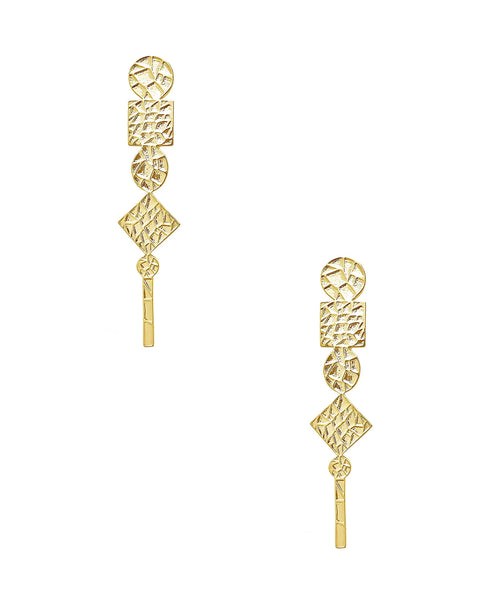 Zoom view for Hammered Drop Earrings
