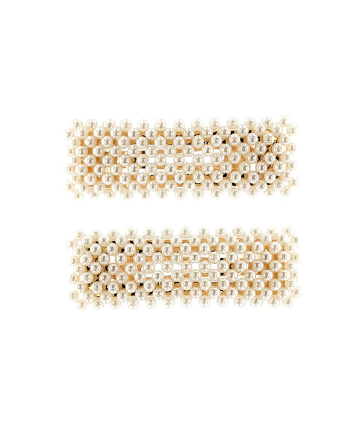 Zoom view for Pearl Hair Snap Clips- 2 Pc Set A