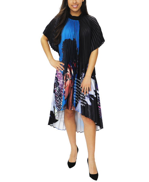 Zoom view for Hi-Lo Pleated Dress