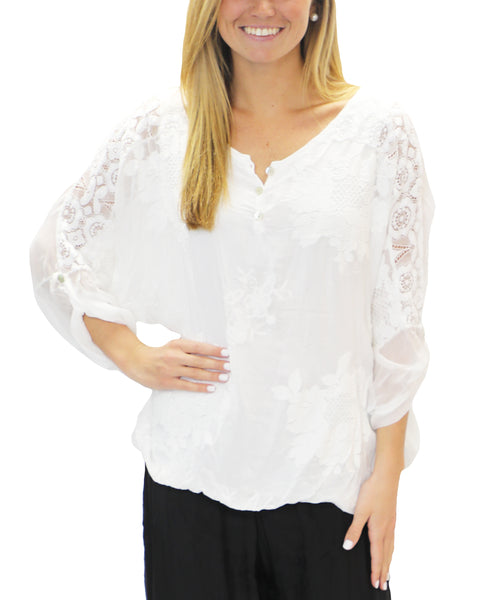 Zoom view for Silk Lace & Embroidered Top