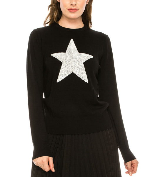 Zoom view for Sequin Star Sweater